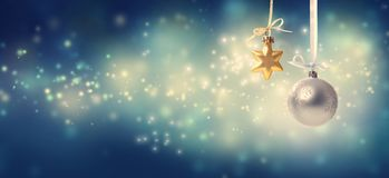 Free Christmas Star And Bauble Ornaments Stock Photography - 130199682