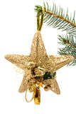 Christmas star with angel Royalty Free Stock Photography