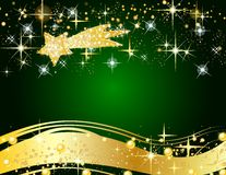 Christmas star background Stock Images