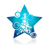 Christmas star background Royalty Free Stock Photos
