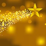 Christmas star background. Vector illustration of christmas star background. Editable Royalty Free Stock Photo