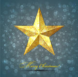 Christmas star background. Stock Photography