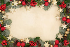 Christmas Star Background  Border Royalty Free Stock Images