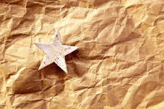 Free Christmas Star Background On Recycle Paper Royalty Free Stock Photos - 21384098