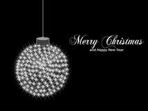 Christmas star ball Royalty Free Stock Image