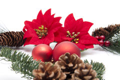 Christmas star with balls Royalty Free Stock Images
