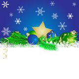 Christmas star and   balls 4. Christmas star and  cristmas balls Royalty Free Stock Photo