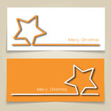 Christmas star banners Stock Images