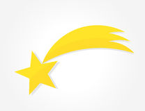 Christmas star of Bethlehem icon. Vector illustration Royalty Free Stock Photos
