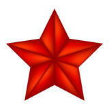 Christmas star of Bethlehem vector symbol, icon  design. illustration isolated on white background. Stock Images