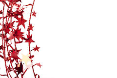 Christmas star border Royalty Free Stock Photo