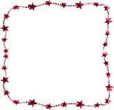 Christmas star border Stock Photo