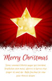 Christmas star card with place for text. Christmas star card on red background with place for text Royalty Free Stock Images