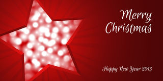 Christmas star card Stock Images