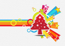 Christmas with star celebration background Stock Images
