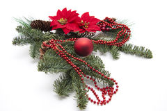 Christmas star with chain Stock Images