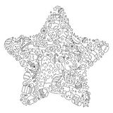 Christmas star from Christmas decorative elements. Royalty Free Stock Images