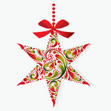 Christmas star. Christmas toy. Isolated object. Royalty Free Stock Photos