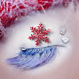 Christmas star concept eye makeup winter Royalty Free Stock Photos