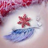 Christmas star concept eye makeup winter Royalty Free Stock Photos