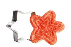 Christmas star cookie with cutter Stock Image