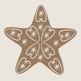 Christmas star cookie Royalty Free Stock Photo