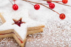 Christmas Star Cookie Royalty Free Stock Images