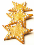 Christmas star cookies. Close up of christmas star cookies Royalty Free Stock Images