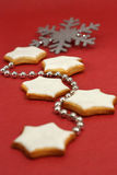 Christmas star cookies Royalty Free Stock Photos