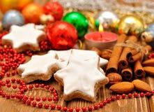 Christmas star cookies Stock Photography
