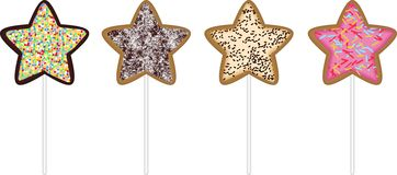 Christmas star cookies. Scalable vectorial image representing a Christmas star cookies, isolated on white Royalty Free Stock Photography