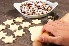 Christmas star cookies Stock Image