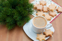 Christmas Star Cookies Stock Photography