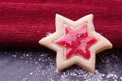 Christmas star cookies Stock Image