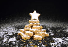 Christmas star cookies tree Royalty Free Stock Photography