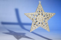 Christmas Star and Cross Stock Images
