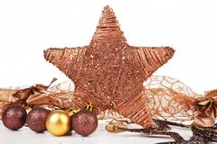 Christmas star decor. Stock Photography