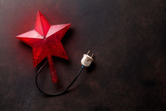 Christmas star decor Royalty Free Stock Photo