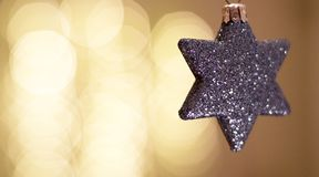 Christmas star. Christmas decoration star and blur Royalty Free Stock Photo