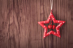 Christmas star decoration with copy space Royalty Free Stock Image
