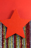Christmas star decorations Royalty Free Stock Photo