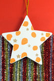 Christmas star decorations Stock Images
