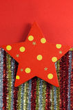 Christmas star decorations Royalty Free Stock Photos