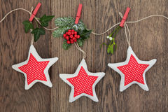 Christmas Star Decorations Stock Image