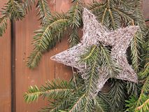 Christmas Star. A Christmas star with evergreen Stock Image