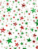Christmas Star Field. A star field of green and red stars with a clipping path Stock Images