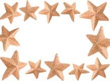 Christmas Star frame Stock Photography