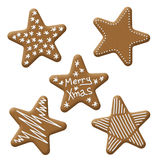 Christmas star gingerbread. With white sugar topping Royalty Free Stock Photography
