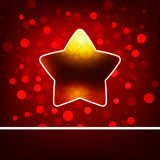 Christmas star on Gold background. EPS 8 Royalty Free Stock Image