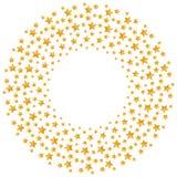 Christmas star gold color pattern circle shape stock illustration